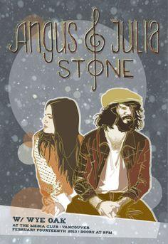 Angus and Julia Stone Posters Angus Stone, Angus & Julia Stone, Tour Posters, Band Posters, Music Posters, Great Bands, Cool Bands, Concert Posters, Gig Poster