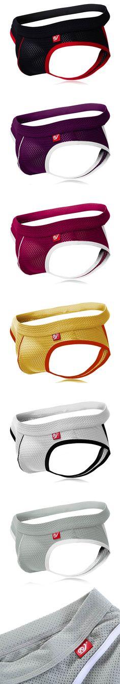 Men's Underwear / Soft Breathable Briefs / Thong Jockstrap / Low Waist / Enhance Pouch