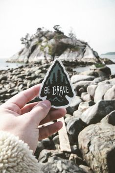 Be Brave Vinyl Adventure Sticker - Dear Summit Supply Co.