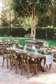 Opting for a laid-back Spring wedding, this bride and groom brought a bohemian vibe to every detail of their day. From the bride's floral crown to ombre table runners set with flowing greenery, it's the kind of pretty celebration that