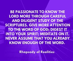 Rhapsody of Realities is the world's most distributed and translated daily devotional. Pastor Chris, Daily Devotional, Word Of God, Christian Quotes, Bible Quotes, Confessions, Prayers, Knowledge, Lord