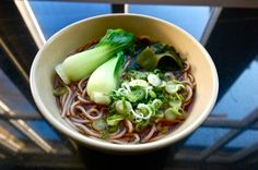 Soba with Pak Choi and Wakame
