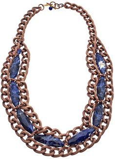 Minu Jewels Rose Gold Sodalite Necklace on shopstyle.com