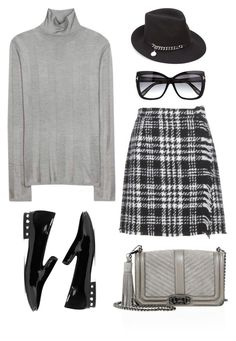 """Gray and Black"" by stavrolga ❤ liked on Polyvore featuring Balenciaga, Dolce&Gabbana, Rebecca Minkoff, STELLA McCARTNEY, Tom Ford, fedorahat, polyvoreeditorial and grayandblack"
