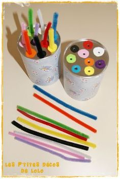 make colour cans. burry at sand table for sorting activity. or use for patterning (use foam blocks)