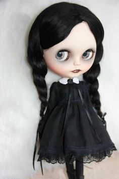 Wednesday -Dark. Blythe Doll in Black