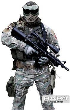 T68 RIS CQB #Paintball Gun