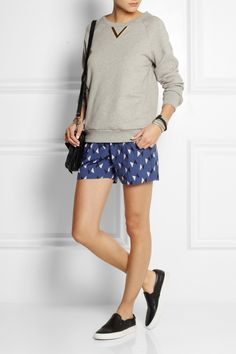 chinti and parker// printed cotton shorts// on sale at net-a-porter