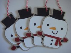 Christmas Gift Tag-Snowman Gift Tag-Holiday gift Tag-Winter Tag