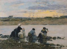 Laundresses by the River, 1880-85. Eugene Boudin
