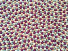 Beautiful Hand Made Felt Ball Rug - Desert Flower http://www.bostonbrands.com.au/product/felt-ball-rug-desert-flower
