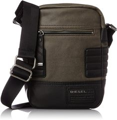 Diesel Men's Urban Core Slim Cross Cross Body Bag Best Messenger, Cool Messenger Bags, Side Bags For Men, Leather Guitar Straps, Mens Crosses, Handbag Stores, Men's Backpack, Chain Shoulder Bag, Black Cross Body Bag