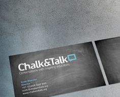 Chalk & Talk Business Cards by Studio Ink (via Creattica)
