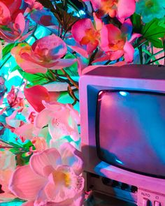 aesthetic, flowers, and vaporwave image