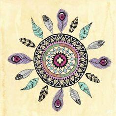 Feathers Mandala