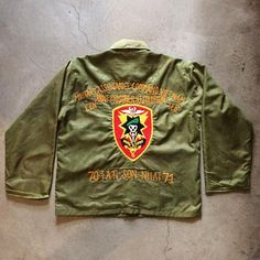 1970's Vietnam War tour jacket, size M/L, $250+$16 domestic shipping. Call 415-796-2398 to purchase or PayPal afterlifeboutique@gmail.com and reference item in post.