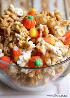 DELICIOUS Pumpkin Snack Mix recipe on { lilluna.com }