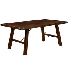 Shop for Furniture of America Montelle Dark Oak Dining Table. Get free shipping at Overstock.com - Your Online Furniture Outlet Store! Get 5% in rewards with Club O!