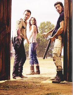 The Walking Dead...Rick, Lori, and Shane