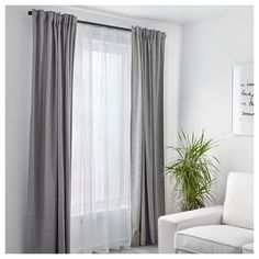 IKEA - ALVINE SPETS, Net curtains, 1 pair, The net curtains let the daylight through but provide privacy so they are perfect to use in a layered window solution.The slot heading allows you to hang the curtains directly on a curtain rod. Layered Curtains, Double Curtains, Lace Curtains, Curtains With Sheers, Sheer Curtains Bedroom, Blackout Curtains, Grey Linen Curtains, Vintage Curtains, Office Curtains