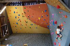 Rock Climbing Wall in Barn. Built by Elevate Climbing Walls