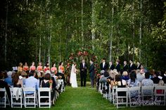 Wedding ceremony in Aspen Grove at Mt. Springs Lodge