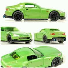 """WitheredCustomz (@witheredcustomz) on Instagram: """"Honda S2000 in Toxic Green Pearl Details abound. Shaved all non-stock casting. @monoblockwheels…"""""""