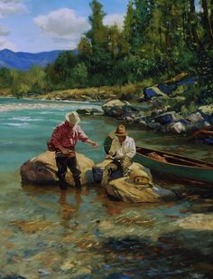 Summer day on the Flathead River by Brett James Smith