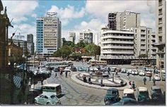 Prefeitura, mercado, fonte Talavera, prédio Guaspari déc. de 1960