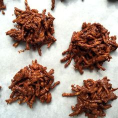 The Best No-Bake Haystack Cookies.  This classic, crunchy cookie is made with butterscotch chips, semi-sweet chocolate chips, chow mein noodles, and peanuts.  Delicious!  From Katie Workman/ the mom100.com.