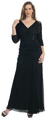STRETCHY FORMAL EVENING DRESSES PLUS SIZE MOTHER of the BRIDE GROOM CHURCH GOWNS