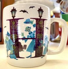 Disney Parks H is for Hunted Mansion Ceramic Mug Cup ABC letters Collection 16oz  | eBay $39.55 Halloween Items, Halloween Decorations, Disney Gift, I Love Coffee, Haunted Mansion, For Your Party, Mug Cup, Disney Parks, Disneyland