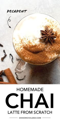 This is the perfect guide for Chai at home from Oh How Civilized! Did you know your favorite chai latte can be made easily at home? Chai lattes are made by blending Indian spices with black tea. Find out how you can easily make chai lattes from scratch at home! #chailatte #latte #tealatte #blacktea Chai Recipe, Latte Recipe, Masala Chai, Tea Sandwiches, Recipe From Scratch, Tea Recipes, High Tea, Matcha, Afternoon Tea