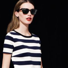 stripes & red lips are always a good idea