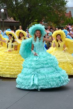 Walking in Disney Worlds Easter Parade!