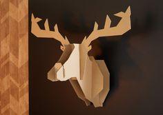 DIY : fabirquer un trophée tête de cerf #noelbricolage #noel #makeit
