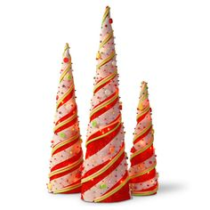 national tree company red sisal cones christmas table decor multicolor
