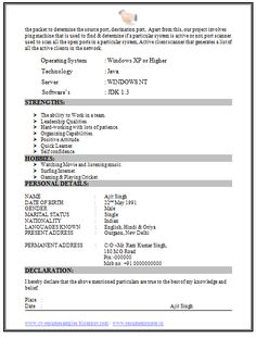 b tech it resume sample free 2 - Resume Samples Free Download