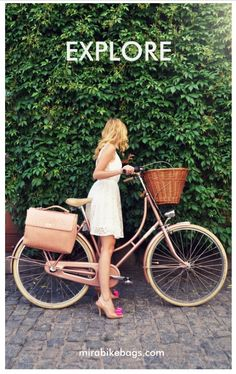"""Pannier bags that are stylish and functional. It's a """"chic bike bag"""". Want one? Check out their crowd-funding campaign https://www.indiegogo.com/projects/mira-the-chic-bike-bag#/story"""