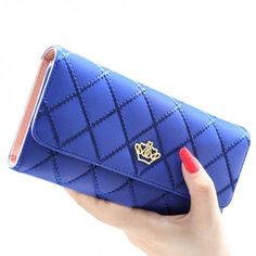 Blue Lattice Crown Wallet – Sweet Bags and Bits