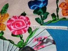 DIY Cómo hacer la flor de campanilla en capullo, bordando en listón. - YouTube
