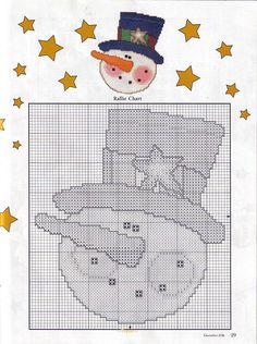 Winter Fun Snowmen Ornaments, plastic Canvas, page 6/6