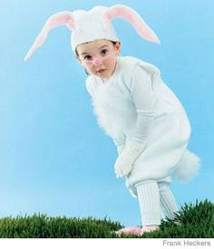 White rabbit - Halloween costume DIY ideas for kids