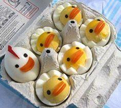 cute boiled eggs.