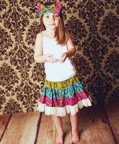 Sewing Pattern, Twirly Swirly Skirt (pdf pattern), 2 to10 Years