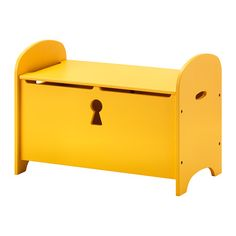 TROGEN Storage bench, yellow 70x39x50 cm yellow