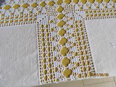 Front panel idea for top Filet Crochet, Crochet Doily Diagram, Crochet Borders, Crochet Squares, Crochet Granny, Crochet Stitches, Crochet Patterns, Crochet Fabric, Crochet Doilies