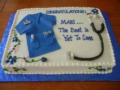Cake for Nurse Graduation