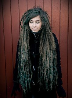 You can count on this.  When I am mature and grayed, and my dreads are this long, I will not be your typical cat lady.  Although I will likely have cats.  And chickens.  And small goats.  I will be the crazy dreaded small animal lady.