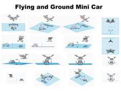 Flying and Ground Mini Car